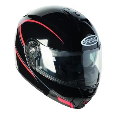 Prilba Ozone FP-01, na motorku čierno-červená
