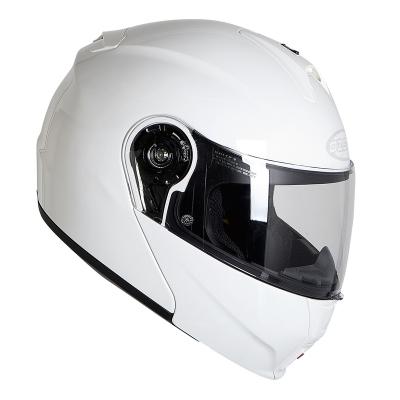Prilba Ozone FP-01 biela, na motorku