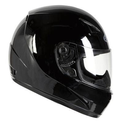 Prilba Ozone A951 Solid čierna lesklá, na motorku