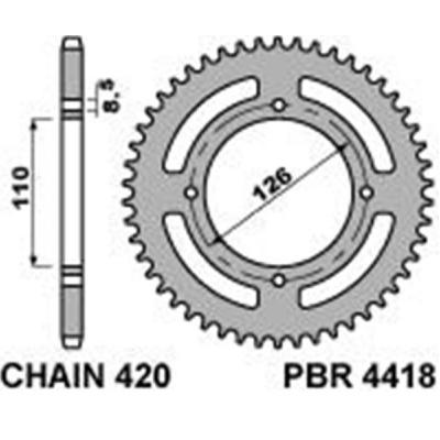 Rozeta PBR 4418 46z.