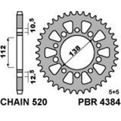 Rozeta PBR 4384 47z. Alu