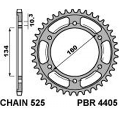 Rozeta PBR 4405 46z.