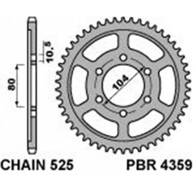 Rozeta PBR 4359 46z.