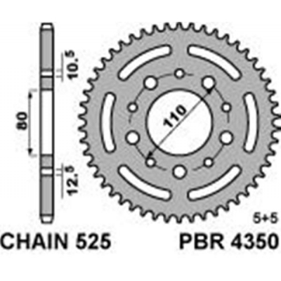 Rozeta PBR 4350 44z.