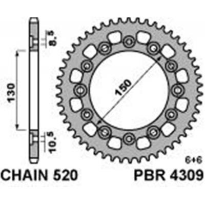 Rozeta PBR 4309 48z.