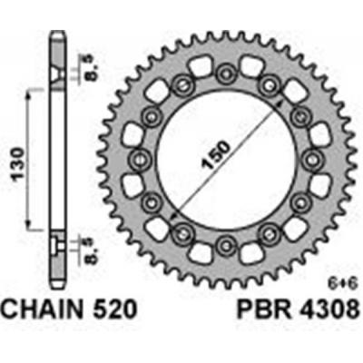 Rozeta PBR 4308 48z.