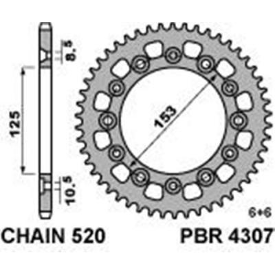 Rozeta PBR 4307 51z.