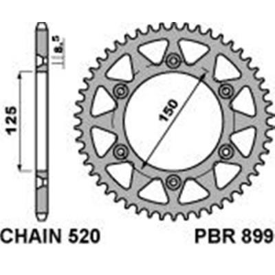 Rozeta PBR 899 44z.