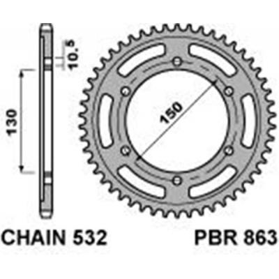 Rozeta PBR 863 47z.