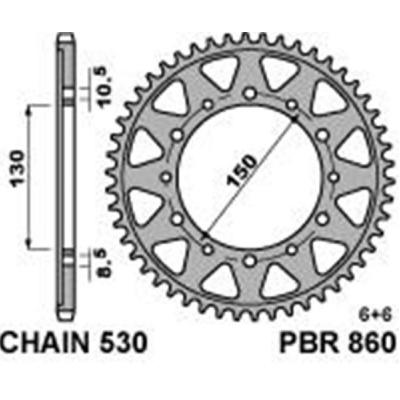 Rozeta PBR 860 48z.
