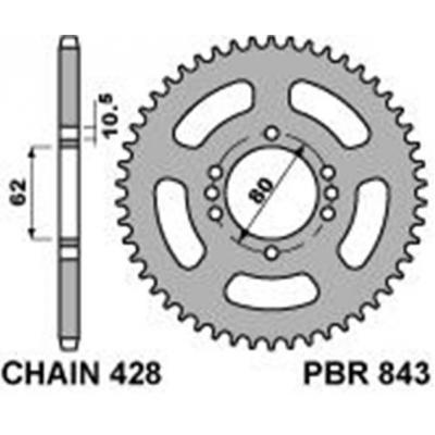 Rozeta PBR 843 49z.