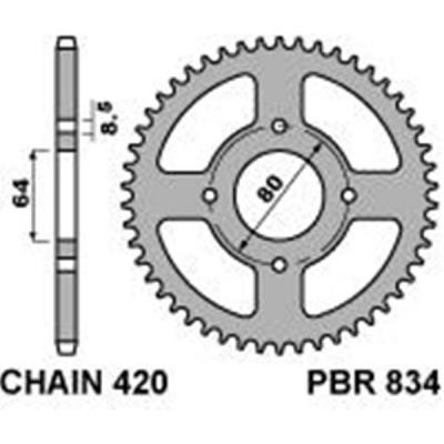 Rozeta PBR 834 48z.
