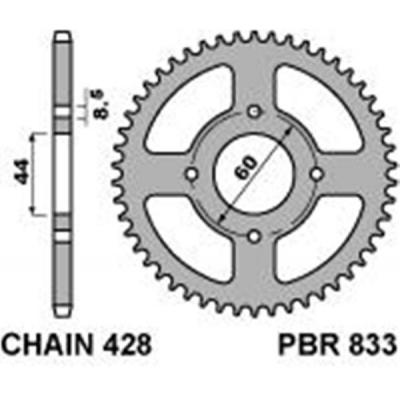 Rozeta PBR 833 49z.