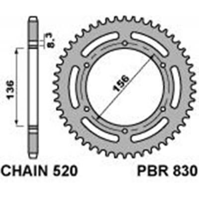 Rozeta PBR 830 48z.