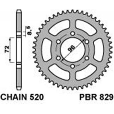 Rozeta PBR 829 44z.