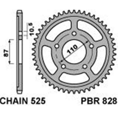 Rozeta PBR 828 43z.