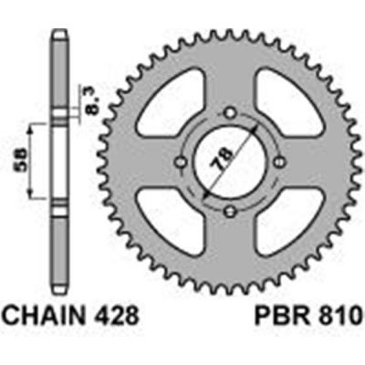 Rozeta PBR 810 50z.