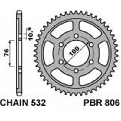 Rozeta PBR 806 42z.