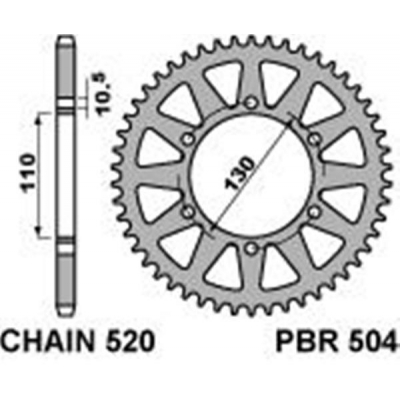 Rozeta PBR 504 48z.