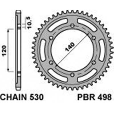 Rozeta PBR 498 48z.