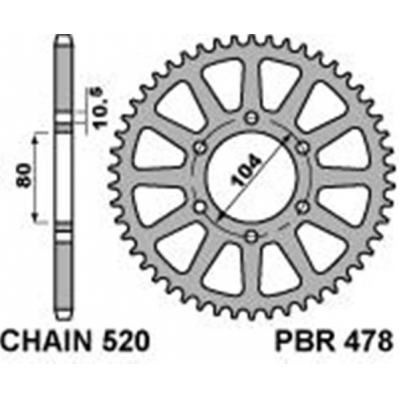 Rozeta PBR 478 42z.