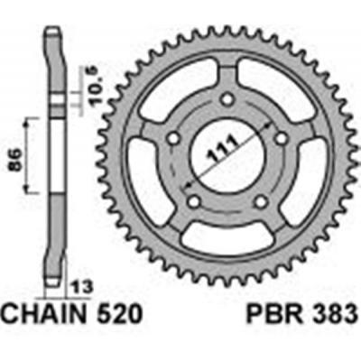 Rozeta PBR 383 52z.