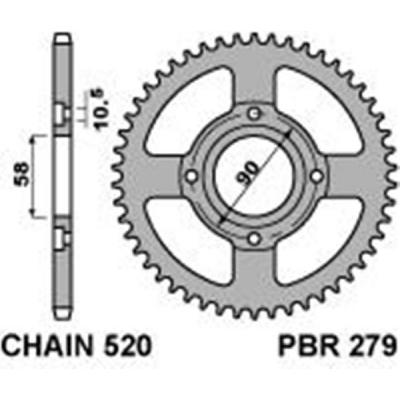 Rozeta PBR 279 40z.