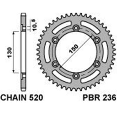 Rozeta PBR 236 46z.
