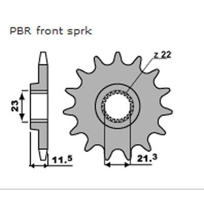 Kolečko PBR 2051 13z.