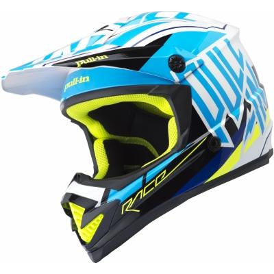 Prilba PULL IN modro-čierna, na motorku