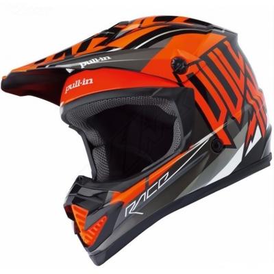 Prilba PULL IN oranžovo-čierna, na motorku