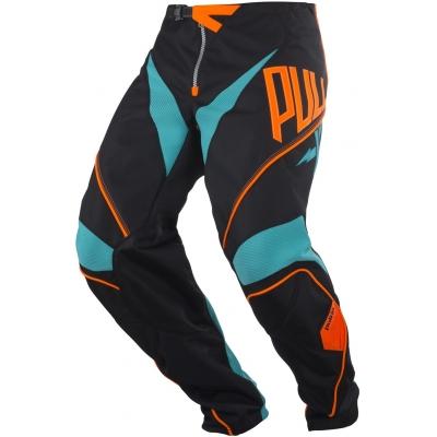 Nohavice PULL IN Challenger čierno-tyrkysovo-oranžové