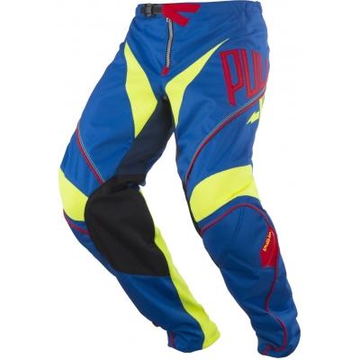 Nohavice PULL IN Challenger modro-žlto-červené