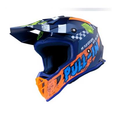 Prilba PULL-IN Trash 2020 - modra oranžová