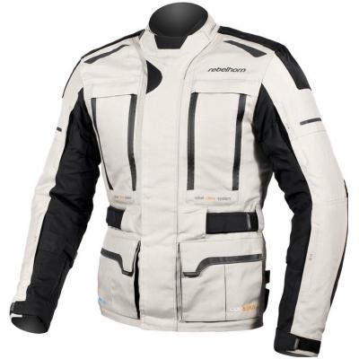 Textílná bunda Rebelhorn Hardy PRO čierno-sivá, na motorku