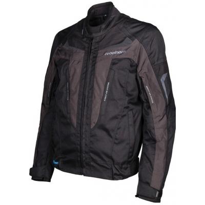 Textilná bunda Rebelhorn Chase čierno-sivá, na motorku