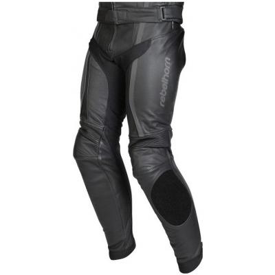 Kožené nohavice Rebelhorn Stroke II čierno-sivé, na motorku