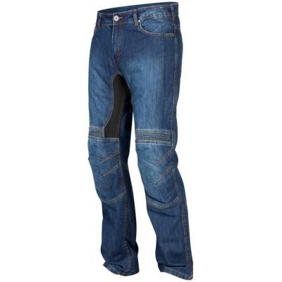 Kevlarové nohavice Rebelhorn Eagle modré, na motorku
