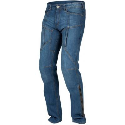 Kevlarové nohavice Rebelhorn Hawk modré, na motorku