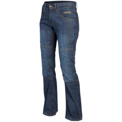 Kevlarové nohavice Rebelhorn Classic Lady modré, na motorku