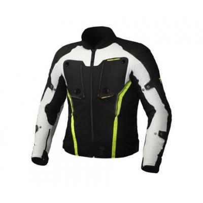 Textilná bunda Rebelhorn Borg - bielo čierna