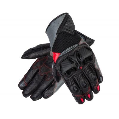 Rukavice REBELHORN FLUX II - čierna sivá červená
