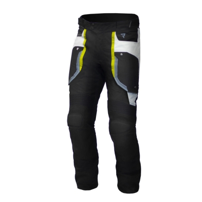 Textilné nohavice Rebelhorn Borg - čierno-sivo- žlté fluo