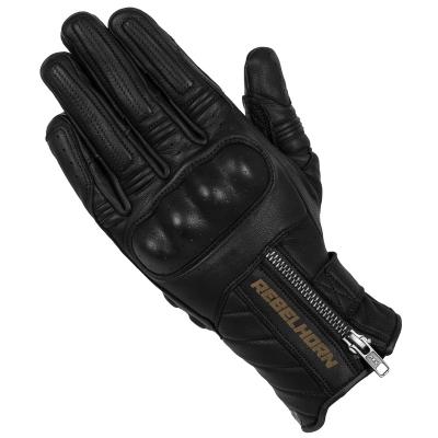 Kožené rukavice REBELHORN HUNTER, čierne