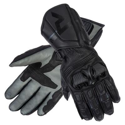 Kožené rukavice REBELHORN ST, čierno-sivé