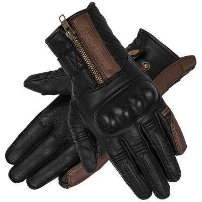 Kožené rukavice REBELHORN HUNTER VINTAGE, čierno-hnedé