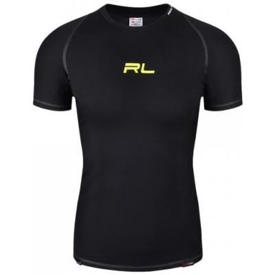 Termo tričko REDLINE SATURN OUTLAST, čierno-žltá fluo, krátky rukáv