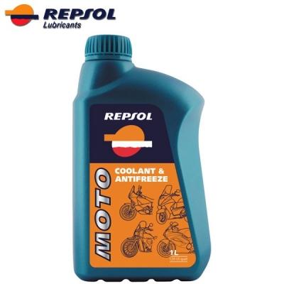 Repsol Moto Coolant & Antifreeze, na motorku