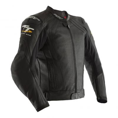 Kožená bunda RST 2235 IOM TT Grandstand CE čierna