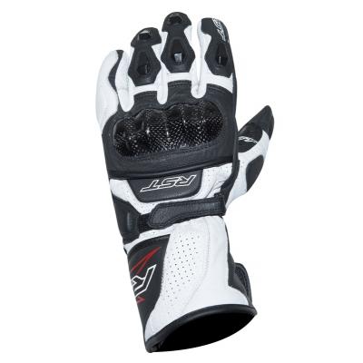 Kožené rukavice RST Delta III čierno-biele, na motorku